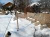 Blick aufs verschneite Sommerquartier